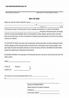 Bill Of Sale With Notary Free 6 Notarized Bill Of Sale Forms In Pdf