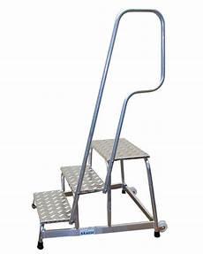 corrimano in alluminio scaletta in alluminio con corrimano e ruote 3 gradini