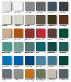 Tin Roofing Color Chart Housecraft Service Company Steel Roofing