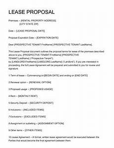 Business Lease Proposal Template Business Proposal Templates 100 Free Examples Edit