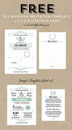 Free Diy Wedding Invitations Templates Free Printable Wedding Invitation Template Free Wedding