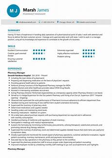 Pharmacy Manager Resume Pharmacy Manager Resume Sample Resumekraft