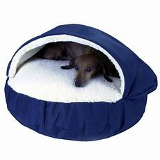 snoozer orthopedic cozy cave pet bed in navy petco