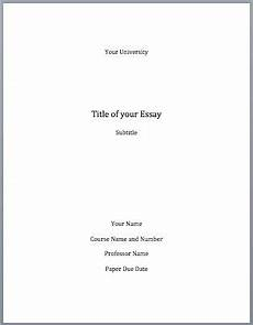Cover Page Research Paper Mla Format Cover Page Essay Cover Page