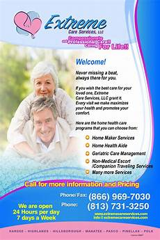 Home Care Flyer Extreme Care Services Llc About Us