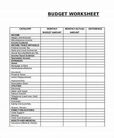 Budget Sheets Templates 17 Printable Budget Worksheet Templates Word Pdf