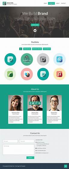About Us Page Design Pinterest 26 Free One Page Psd Web Template Designs Free