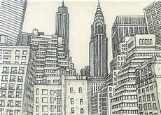City Building Sketches New York City Sketch 3 By Sketchmodern On Etsy City