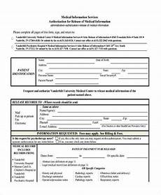 Generic Release Of Medical Information Form Free 19 Sample General Release Of Information Forms In