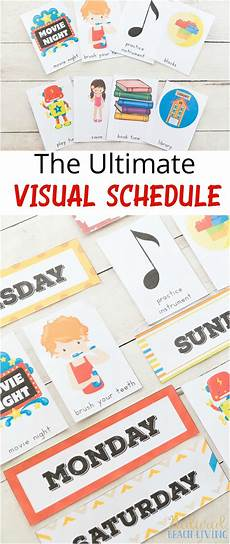 Printable Daily Schedule Kids Daily Visual Schedule For Kids Free Printable Natural