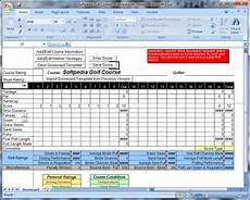 Golf Scorecard Template Download Golf Tracker For Excel 2 0