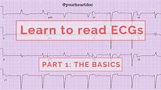 How To Read Cardiogram Chart How To Read An Ecg Ekg Part 1 The Basics Of