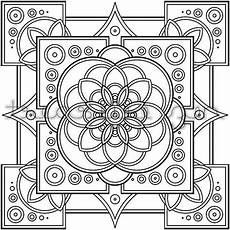 mandala coloring page instant