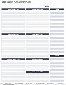 Planner Weekly Template Free Project Calendar Templates Smartsheet