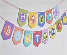 Create A Birthday Banner Diy Birthday Banner With Patterned Paper