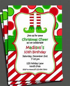 Free Evites For Holiday Party Items Similar To Christmas Elf Invitation Printable