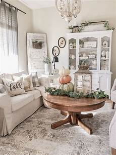vintage home decor a cozy fall farmhouse family room cottage style home