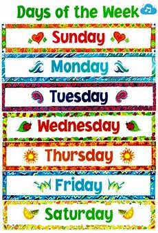 Printable Days Of The Week Chart Related Image Teacher Supplies Toddler School