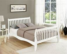 pine sleigh bed frame white or 4ft6 size