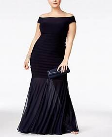 Xscape Plus Size Dresses Size Chart Xscape Plus Size Off The Shoulder Mermaid Gown Dresses