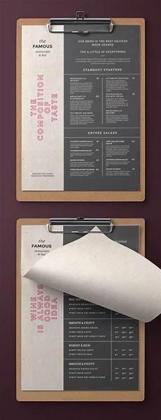 Every Trendy Restaurant Menu Elegant And Simple Restaurant Menu Trendy And Easy