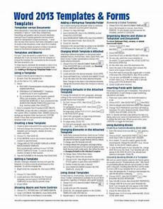 Cheat Sheet Template Word Microsoft Word 2013 Templates Amp Forms Quick Reference