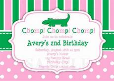 Birthday Invitations Girls Printable Birthday Invitations Girls Alligator Party