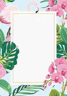 Invite Background Orchids Amp Flamingo Birthday Invitation Template Free