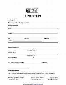 Annual Rent Receipt Template by Free Landlord Rent Receipt Template