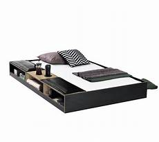 black pull out bed with partitions 90x190 cm 199 ilek