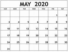 Blank May Calendar 2020 Free Printable Calendar May 2020 Download Free Printable