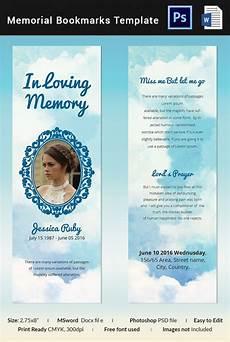 Free Printable Memorial Templates 5 Memorial Bookmark Templates Free Word Pdf Psd