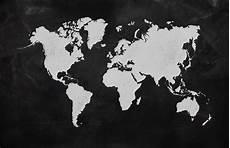 Black And Grey World Map Black World Map Wallpaper Mural Muralswallpaper
