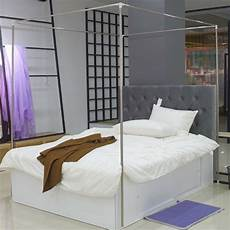 stainless steel bed mosquito netting canopy frame post