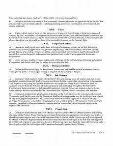 Construction Contract Free Download Construction Contract Form California Free Download