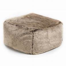 Esituro Ottoman Padded Footstool Fur Pouffe Chair by Silas Faux Fur Square Pouffe In 2019 Leather Footstool