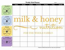 Meal Planner With Nutritional Information Pin By Sherry Von Boeckmann On Food With Images Meal