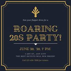 1920s Invitation Template Free Vintage Invitation Templates Canva