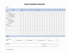 Bathroom Cleaning Checklist Template Toilet Cleaning Checklist