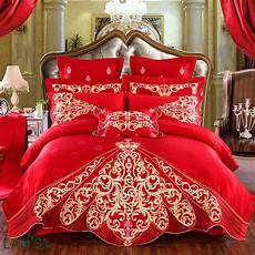 2018 shiny luxury gold embroidery jacquard 9pcs bedding