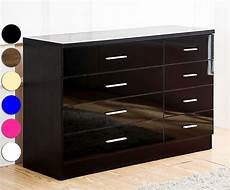 high gloss 8 drawer chest 4 4 bedroom furniture