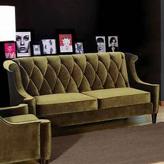 barrister sofa in green velvet contemporary sofas by