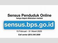 Sensus Penduduk 2020 Online di sensus.bps.go.id