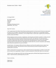 Cover Letter Retail Examples Retail Cover Letters 8 Free Word Pdf Format Download