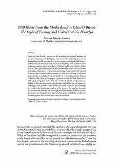 Motherland Essay Pdf M Others From The Motherland In Edna O Brien S The