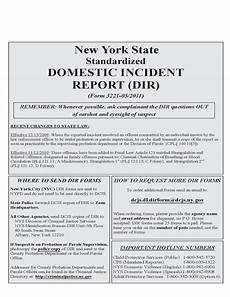 Domestic Incident Report Standardized Domestic Incident Report New York Free Download