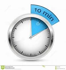 Timer 10 Minutes 10 Minutes Timer Illustration Stock Vector