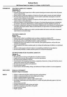 Resume For Teacher Assistant Teaching Assistant Resume Samples Velvet Jobs
