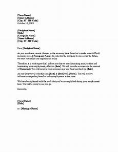 Layoff Letter Notice Of Layoff Letter Template Useful Letters Templates