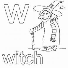 Malvorlagen Englisch Kostenlose Malvorlage Englisch Lernen Witch Zum Ausmalen